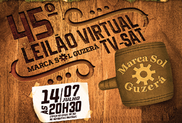 45º LEILÃO VIRTUAL TV-SAT MARCA SOL GUZERÁ